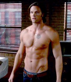 Shirtless CW Stars: Jared Padalecki, Look at them ALL... even though some shots are tease shots...