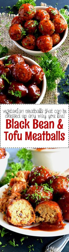 Black Bean and Tofu Meatballs - Black Bean and Tofu Meatballs are moist, flavourful, and completely vegetarian! Seasoned with familiar herbs and spices, and tossed in the sauce of your choice, these meatballs aim to please, and they do just that!