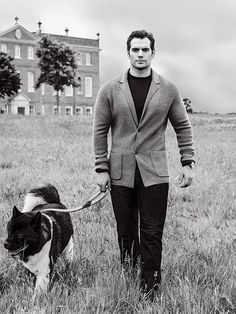 """henrycavilledits: """" """"I have an Akita named Kal. I picked up Kal for the first time during preproduction for Batman v Superman. I got him in Arkansas, which I was sure was pronounced """"Ar-Kansas"""" before I got there. I said it in front of lots and lots..."""