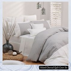 This Roland Charcoal Quilt Cover by Logan & Mason will bring a fresh look and simplicity in your bedroom.
