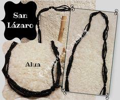 Collar Mazo de San lázaro Alua https://www.facebook.com/crearteorishamadrid/ #sanlazaro #madrid #santeria #afrocubano #atributosyorubas #santos #orishas #aja #españa #asojano