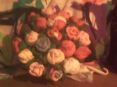 Mini rosas de tecido. .