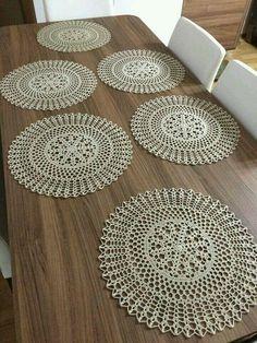 Platzset rund | Kanevice | Pinterest | Crochet, Crochet doilies and Chrochet