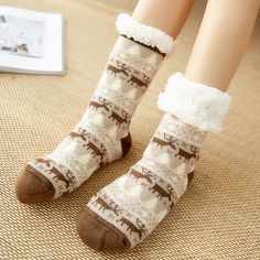 Flamingos Womens Knee High Socks Winter Warm Boot Socks Tube Stockings