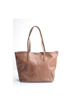 ★★★★★ $85 ABSOLUTELY NEED THIS!! JAIMEE Simple Everyday Leather Tote Bag in Camel by VellePurse