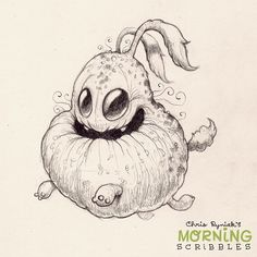 Lumpy pup goin' for a Friday run… #morningscribbles