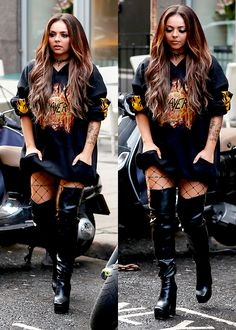 Little Mix leaving a restaurant on October 17, 2016 in London, England.