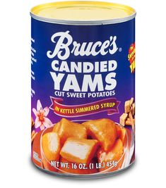 Bruce's Candied Yams Cut Sweet Potatoes in Kettle Simmered Syrup