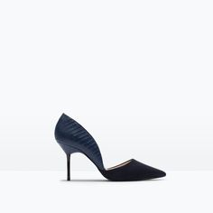 Image 1 of COURT SHOE WITH ASYMMETRIC STRAP from Zara Skor Klackar ae43873a59f41