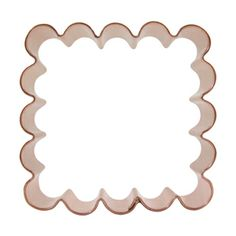 Square copper cookie cutter with scalloped edges. Available in two sizes. www.CopperGifts.com