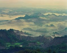Taiwan's landscape is full of Mountains.