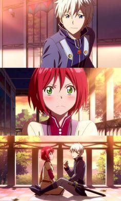 ✓ Romance. Zen and Shirayuki Best couple of this season!x Akagami no Shirayuki-hime #SnowWhitewiththeRedHair #anime