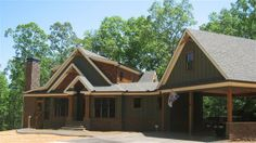 smoky mountain cottage by Max Fulbright. Good fit for lake lot and orientation of upstairs dormers to lake view.