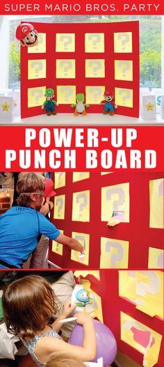 super mario power up punch board