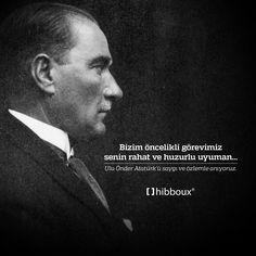 Ulu Önder Atatürk'ü saygı ve özlemle anıyoruz.  #10Kasım #SaygıveÖzlemleAnıyoruz