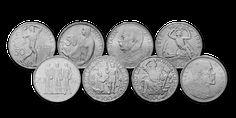sada-8-originalnych-cesko-slovenskych-mincil Coins, Personalized Items, Rooms