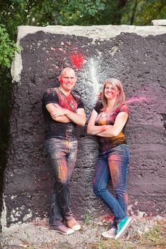 Holi Powder Engagement Photography » Ashley Biess Photography