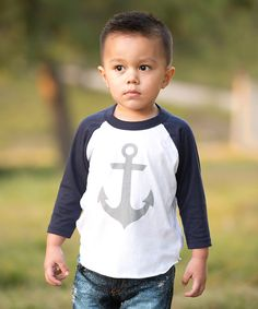 Another great find on #zulily! Navy Anchor Raglan Tee - Infant by Tink & Key #zulilyfinds