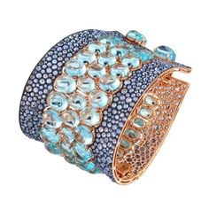Etho Maria topaz and sapphire bracelet in rose gold