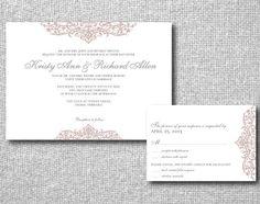 Printable Wedding Invitation Top Bottom by LittlePaperLantern