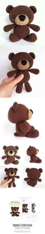 Snuggle Teddy Bear amigurumi pattern