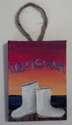 Louisiana Shrimp Boots Ornament/Decor by StaceyMReilly on Etsy