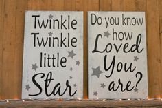 Nursery Wall Decor Gender Neutral Nursery Decor Twinkle Twinkle Little Star Do You Know How Loved You Are Above Crib Decor Boys Nursery Sign