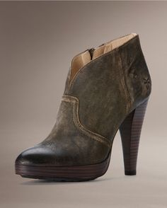 Frye Women's Harlow Campus Bootie in Tan, why are you so beautiful and yet  insist