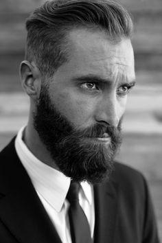 Serious beard