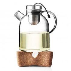Teekanne Kettle Glas mit Tee-Ei 1,5L
