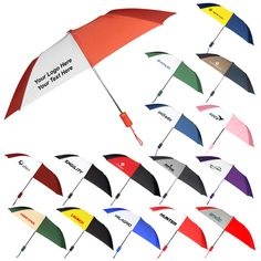 """43 Inch Personalized Wind Logo Umbrellas: Product Size: 43 Inch Arc. Imprint Area: 7""""W x 6.5""""H. Product Weight: 38.48 lbs. Packaging: 48. Material: Nylon Fabric. #customumbrella #promoproduct #windlogoumbrella"""