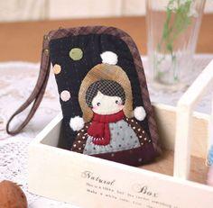 可爱女孩手机袋 - 图文教程 - 学手工 - 玩美手工网--手工创意梦想实现的平台