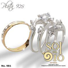 Trío de boda en plata 925 RD$2,500.00