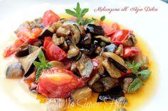 Melanzane all'agro dolce ricetta estiva per un antipasto sfizioso, un secondo leggero o un contorno stuzzicante. Caponata di melanzane facile e mediterranea