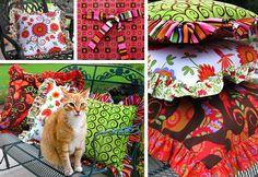 Festive Fall Ruffled Pillows in Three Big Sizes | Sew4Home
