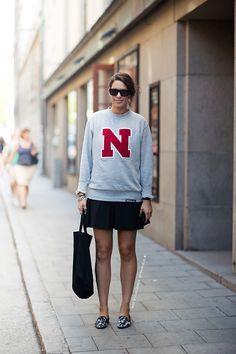 sweater weather. #NinaJohansson in Stockholm.