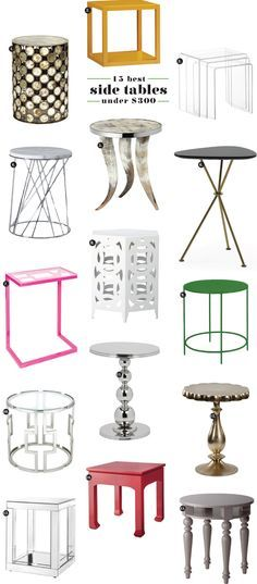 chic on a budget: side tables : Matchbook Magazine | The Daily Spark