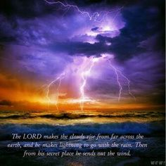 Is the God of the Old Testament Cruel? - Report by David Cloud Meteorology, Old Testament, Secret Places, Amazing Nature, Mother Nature, Northern Lights, Scenery, Old Things, Clouds