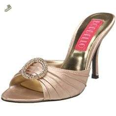 Pleaser Women's Violette-04 Sandal,Champagne Satin,7 M US - Pleaser pumps for women (*Amazon Partner-Link)