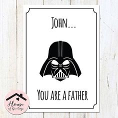 Darth Vader Pregnancy Announcement, Funny Pregnancy Announcement, Pregnancy Announcement to Dad, Dad-to-be, New Dad Card, Star Wars Baby  This listing is for a DIGITAL FILE in the FILE TYPE of your choice. Unless you order printing (contact for quote), no physical item will be shipped to you. Your purchase includes unlimited revisions until youre 100% in love with your file!  I LOVE IT! HOW DO I ORDER?!  1. Select your FILE TYPE and CHECKOUT. ➺ ADD RUSH FOR $5! Files usually arrive in 1-3…