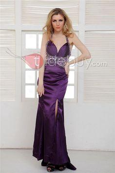 Débora - Vestido de Prom con Escote Halter y Silueta Línea A  (Envío Gratuito )