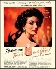 1955 Vintage Ad Revlon Touch-and-Glow Face by DoubleLMomEphemera