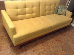 Midcenturyinspired convertible sofa by BoHoApartment on Etsy, $625.00