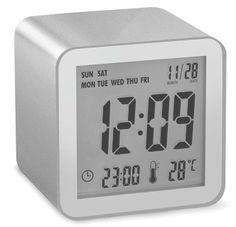 - LCD alarm clock - Black - Designed by Pierre Garner & Elise Berthier Radios, Lexon Design, Light Sensor, Digital Alarm Clock, Cube, Metal Fashion, Top, Furniture, Design Offices
