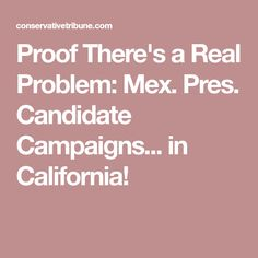Proof There's a Real Problem: Mex. Pres. Candidate Campaigns... in California!