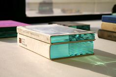 Beautiful high polished glass layer inside of book