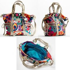 An eclectic Coach handbag