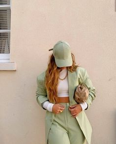 Aesthetic Fashion, Look Fashion, Aesthetic Clothes, Adrette Outfits, Cute Casual Outfits, Green Outfits, Spring Outfits, Fashion Outfits, Mode Pastel