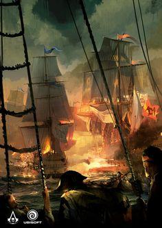 ArtStation - Assassin's Creed IV: Black Flag - Gameplay concept, TEO YONG JIN