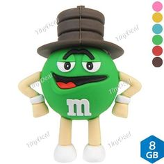 8GB Cartoon Bean Figure Shaped High-speed USB 2.0 Flash Drive Memory Stick Flash Disk U Disk CUD-111543